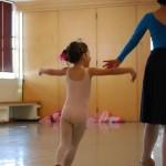 ballet dancer in dance studio